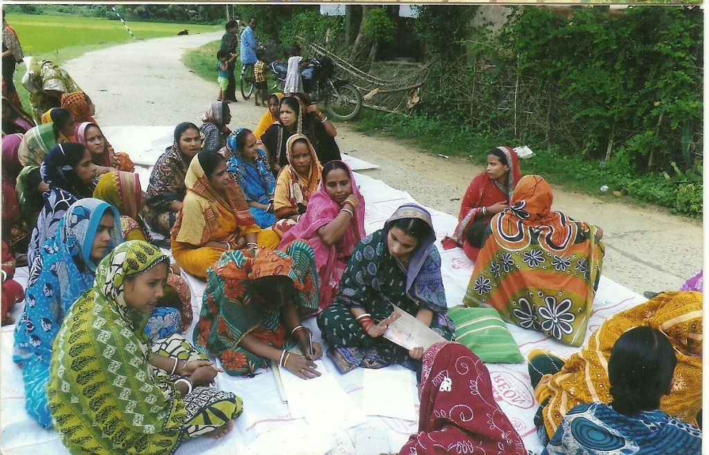 SHG women protesting infront of the school